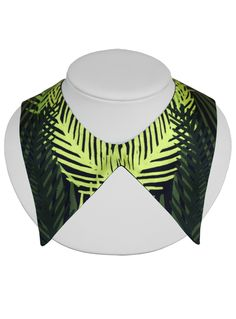 Cleo Ferin Mercury | Detachable Collar | Green Palm Leaves