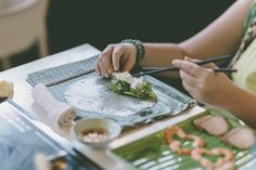 Make your own spring rolls and then enjoy eating your homemade food! Hoi An, Spring Rolls, Homemade Food, Hens, Make Your Own, Dreaming Of You, Our Wedding, Ethnic Recipes, Homemade Dog Food