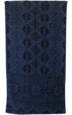 African Batik Bath Towels in Indigo design by Fresco Towels