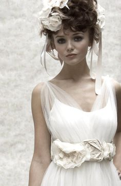 beautiful oversized hand made floral wedding hair accessories, image featuring Ellis Boyle fashion and Florica headpieces