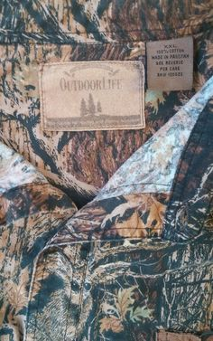 Outdoor Life XXL Mens Button Down Camo Shirt Preowned #OutdoorLife #ButtonFront