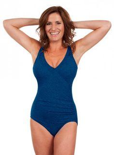 437e084099a13 Krinkle Chlorine Resistant Mock Surplice Tank in Mykonos Blue   Chlorine  Resistant Swimwear - Swim &