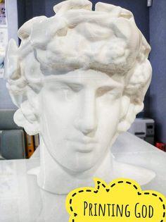 Ο Θεός Διόνυσος 40cm   15 ώρες    PLA   στο 3DSpot της Θεσσαλονίκης  #PLA #craftbot #3dprinting #3dprintingtechnology #3dspot #3dprinting #3dprints #skg #3dmodels #statuette #ornament #godfigure 3d Models, 3d Prints, Dionysus, Sculpture, Statue, God, Dios, Sculptures, Allah