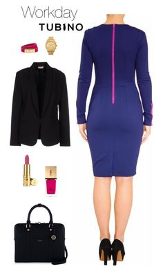 Workday Selena Blue by tubino-skirts-dresses on Polyvore featuring mode, Maesta, Henri Bendel, Nixon, CC SKYE, Elizabeth Arden and Yves Saint Laurent