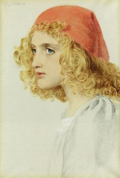 """Anthony Frederick Augustus Sandys (British, 1829-1904), """"The Red Cap"""", 1900   Flickr - Photo Sharing!"""