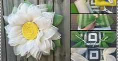 Burlap Daisy Wreath Tutorial