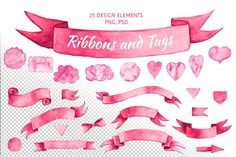 Banners and Tags by ESchweitzerDesign on @creativemarket