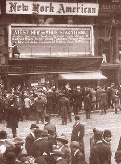 Titanic News: At New York American's office - 1912