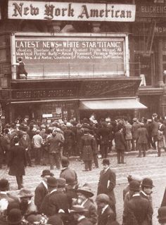 Titanic News: At New York American's office - 1912
