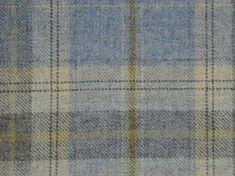 Curtain Fabric Wool Tartan Cornflower Blue Check Plaid Upholstery By Metre Chair Fabric, Curtain Fabric, Upholstery Fabrics, Tartan Chair, Tartan Curtains, Blue Living Room Decor, Bedroom Decor, Sunroom Decorating, Tweed Fabric