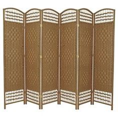 Separate your living space in style with this Tall Fiber Weave Room Divider from Oriental Furniture. The six-panel wood room divider is perfect for. Decor, Furniture, Durable Flooring, Room, Hanging Room Dividers, Light Beige, Room Divider, Oriental Furniture, Paneling