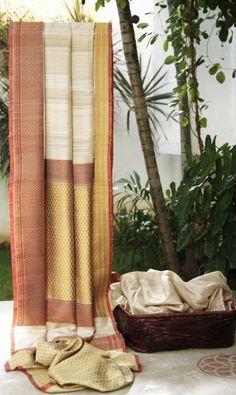 Lakshmi Handwoven Banarasi Tussar Silk Sari