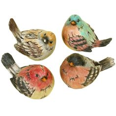 Features:  -Material: Environmentally friendly Polystone sculpted in beautiful birds.  -Unique nature decor.  -Suits to small spaces.  Product Type: -Figurine.  Style: -Country/Cottage/Traditional.  T