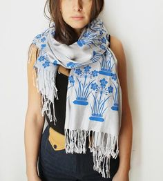 Narcissus Flower Print Scarf by Snoozer Loser on Scoutmob Shoppe