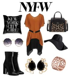 """""""New york Fancy"""" by lydiasoong2210 on Polyvore featuring New York Industrie, Kate Spade, Spitfire, Tartesia and Bounkit"""