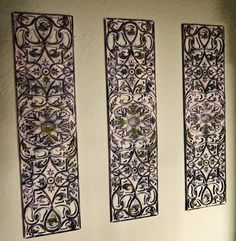 DIY Wrought Iron Artwork From Rubber Door Mat · Diy Wall DecorDiy ... & Spray paint: rubber door mat with a primer (any light color) base ...