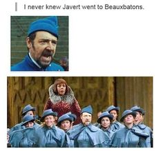 Hahaha Les Miserables and Harry Potter crossover. Sound Of Music, Les Miserables Funny, Pixar, Chef D Oeuvre, Harry Potter Love, Oui Oui, Mischief Managed, Just For Laughs, Les Miserables
