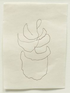 // Agnes Martin, Untitled, 2004. This was her last drawing.