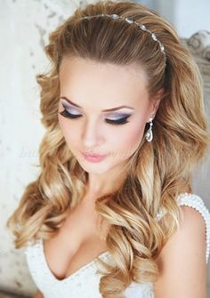 Wedding Hairstyles with Headband | hair down wedding hairstyles, wedding hairstyles for long hair ...