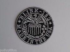 PUNK ROCK HEAVY METAL MUSIC SEW ON / IRON ON PATCH:- BLINK 182 (d) MADE IN USA
