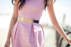 love the belt and the dress!