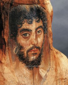 Mummy portrait depicting a bearded man, Roman Period, Egypt. Egyptian Mummies, Egyptian Art, Ancient Rome, Ancient Greece, Roman Art, Art Moderne, Ancient Artifacts, Ancient Civilizations, Roman Empire