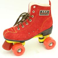 New Women's Roller Skate Quad Skates Boots Double Line 4 Wheels Red Skating…