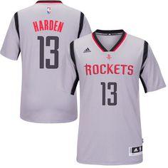 Men s Houston Rockets James Harden adidas Gray New Swingman Alternate Jersey 0439a4875