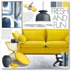Fresh&Fun by pokadoll on Polyvore featuring interior, interiors, interior design, home, home decor, interior decorating, Vitra, fferrone design, blomus and Black+Blum