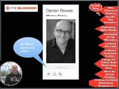 All about the free Marketing On Pinterest Boot Camp, (and yes), I have crazy respect for @Darren Rowse
