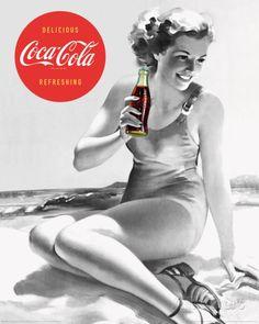 Coca-Cola - Beach Mini-affiche