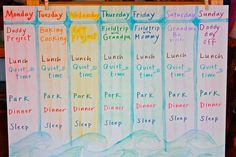 Good example of weekly rhythm by Ariella of Childhood Magic blog. Intentionally simple- room for lots of variation