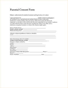 Minor Surgery Consent Form Template | Consent form | Pinterest ...