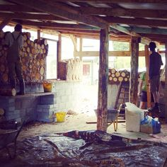 """Converting an old pig shed into a free social space using cob and cord wood. This is """"The Happy Pig"""" a project that was crowd funded by Mark Boyle a. The moneyless man."""