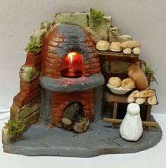 Horno Christmas Clay, Christmas Nativity Scene, Miniature Crafts, Miniature Houses, Cartoon House, Homemade Christmas Decorations, Disney Princess Drawings, Disney Traditions, Ceramic Houses