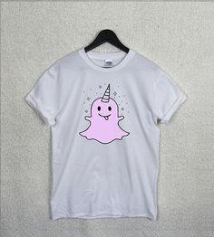 EMOJI Licorne fantôme T Shirt haut unisexe Bitch s