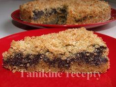 Celozrnný drobenkový makový koláč