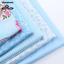 Tela de algodón Para Patchwork Quilts Scrapbooking Productos Fat Quaters Tilda Tela Telas de Costura 5 unids Diseños Azules 40*50 CM(China (Mainland))