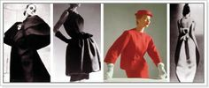 Tailored suits feature short jackets and high waists. The Empire line is featured in evening wear. Spanish Fashion, French Fashion, 1950s Fashion, Vintage Fashion, Balenciaga, Christian Dior, Chemise Dress, Kimono Coat, Bubble Skirt