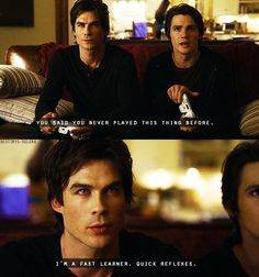 The Vampire Diaries - good gracious but Damon is delicious!