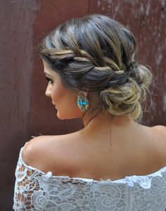 Sep 2018 - Beautiful braids that inspire my creativity. See more ideas about Long hair styles, Hair inspiration and Hair styles. Wedding Hair And Makeup, Bridal Hair, Hair Makeup, Wedding Nails, Wedding Hairstyle, 50 Hair, Hair Dos, Party Hairstyles, Braided Hairstyles