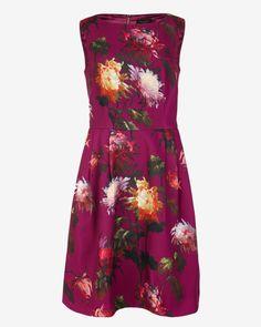 Vintage Winter floral dress - Pale Purple | Dresses | Ted Baker