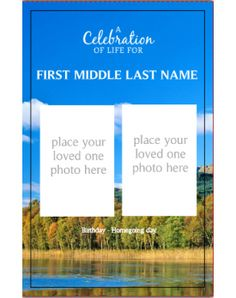 Scenic Lake Classic Template Front Panel