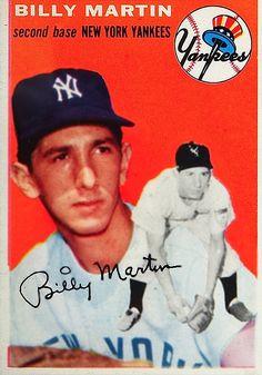 1954 Topps NY Yankee Second Baseman Billy Martin Vintage Yankees Fan, New York Yankees Baseball, Damn Yankees, Football, Cheap Baseball Jerseys, Baseball Players, Baseball Card Store, Baseball Cards, Baseball Stuff