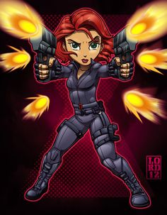 Lil Avengers - Black Widow by lordmesa.deviantart.com on @deviantART