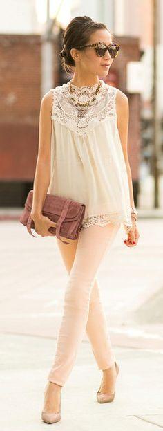 Lovely vintage lace blouse