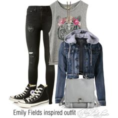 Emily Fields inspired outfit/PLL