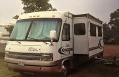 1999 Georgie Boy Cruise Master -Ford V10, tires 2 1/2yrs old - All amenities go with this unit. Original Owner, No smoking, No pets. INTERIOR: Hardwood Floors, Carpet, Oak Cabinets, Full Kitchen, Top/Bottom Fridge, Microwave,Stove Top, Shower, tub, Skylight, TV, CD/Cassette, Sound System, CB Radio, Monitor Panel, Day/Night Shades, Fantastic Fan, Sleeps 4, - See more at: http://www.rvregistry.com/used-rv/1002285.htm