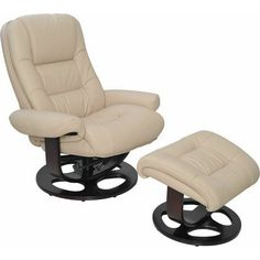 online shopping for BarcaLounger Jacque II Leather Recliner & Ottoman - Ivory from top store. See new offer for BarcaLounger Jacque II Leather Recliner & Ottoman - Ivory Recliner With Ottoman, Glider Recliner, Leather Recliner, Recliner Chairs, Ivory Living Room, Barcalounger, Fabric Ottoman, Power Recliners, Living Room Furniture