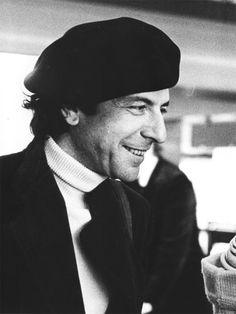 Leonard Cohen in Paris, by Claude Gassian